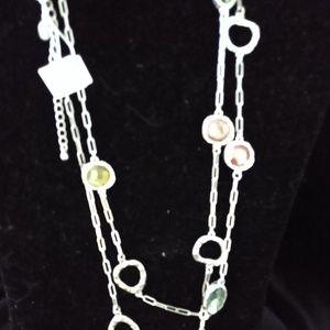 Lia Sophia Multicolor Crystal Necklace